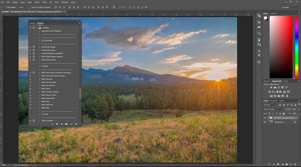 Sleeklens Landscape Adventure Photoshop Actions Review